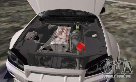 Nissan Skyline R34 Pickup para GTA San Andreas vista direita