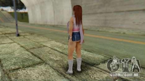 Kasumi Scarf para GTA San Andreas terceira tela