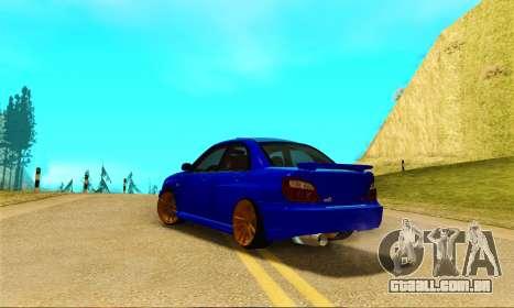 Subaru Impreza WRX STI Spec-C para GTA San Andreas traseira esquerda vista