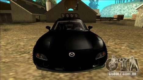 Mazda RX-7 Rusty Rebel para GTA San Andreas vista superior