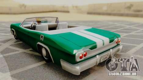 Blade F&F3 Mustang PJ para GTA San Andreas esquerda vista