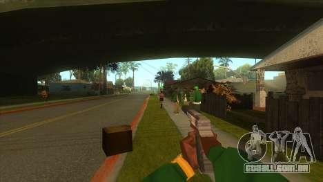 A primeira pessoa v3.0 para GTA San Andreas oitavo tela