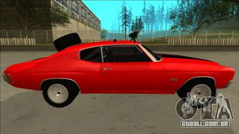 Chevrolet Chevelle Rusty Rebel para GTA San Andreas interior