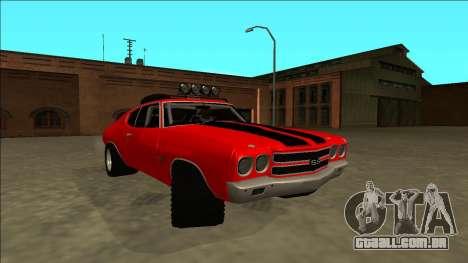 Chevrolet Chevelle Rusty Rebel para GTA San Andreas vista direita
