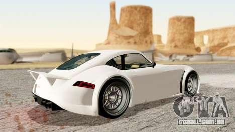 GTA 5 Bravado Verlierer Stock para GTA San Andreas traseira esquerda vista