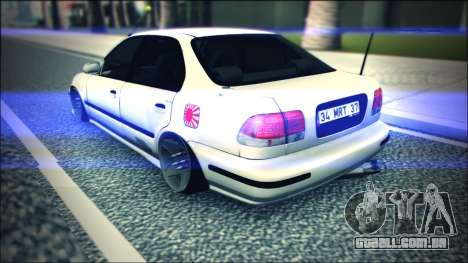 Honda Civic by Snebes para GTA San Andreas vista direita