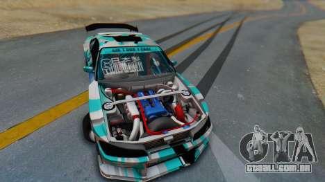 Nissan Silvia s15 Itasha [EDE-Crew] para GTA San Andreas vista interior