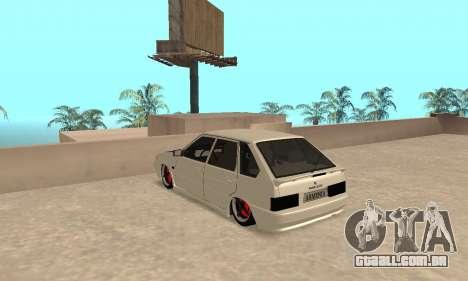 Vaz 2114 Armenian para GTA San Andreas traseira esquerda vista