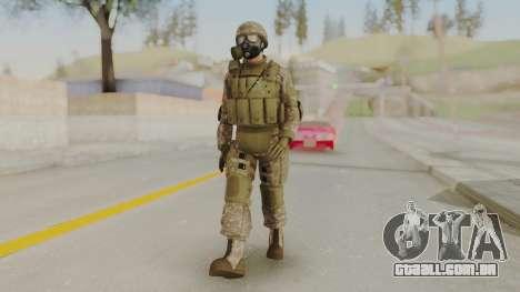 US Army Urban Soldier Gas Mask from Alpha Protoc para GTA San Andreas segunda tela