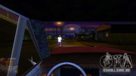 A primeira pessoa v3.0 para GTA San Andreas por diante tela