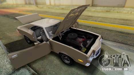 Ford Gran Torino Sport SportsRoof (63R) 1972 PJ2 para GTA San Andreas vista traseira