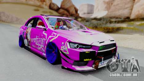 Mitsubishi Lancer Evolution X Hellaflush para GTA San Andreas