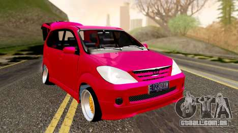 Toyota Avanza Best Modification para GTA San Andreas