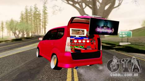Toyota Avanza Best Modification para GTA San Andreas esquerda vista