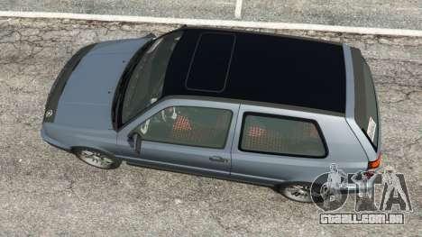 GTA 5 Volkswagen Golf Mk3 VR6 1998 Highline DTD v1.0a voltar vista