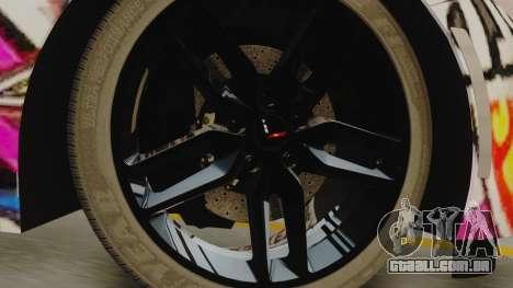 Chevrolet Corvette Stingray C7 2014 Sticker Bomb para GTA San Andreas traseira esquerda vista