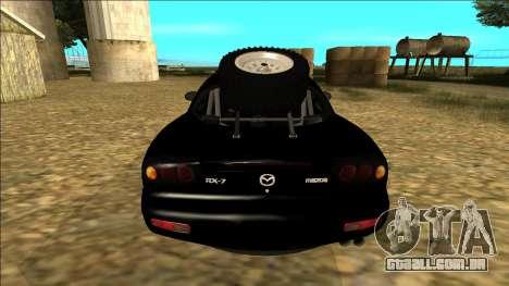 Mazda RX-7 Rusty Rebel para GTA San Andreas vista direita
