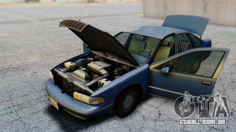 Chevrolet Caprice 1993 para GTA San Andreas vista interior