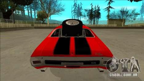 Chevrolet Chevelle Rusty Rebel para as rodas de GTA San Andreas