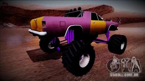 Picador Monster Truck para GTA San Andreas traseira esquerda vista