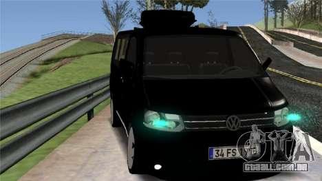 Volkswagen bus By.Snebes para GTA San Andreas esquerda vista
