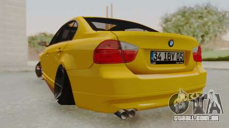 BMW M3 E90 para GTA San Andreas esquerda vista