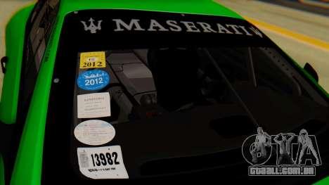 Maserati Gran Turismo Tron para GTA San Andreas vista traseira