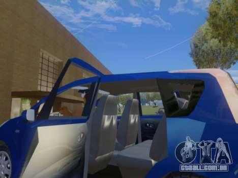 Nissan Note v1.0 Final para GTA San Andreas vista interior