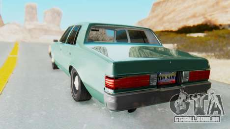 Chevrolet Malibu 1981 Twin Turbo para GTA San Andreas esquerda vista