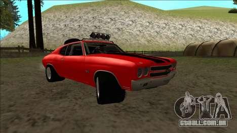 Chevrolet Chevelle Rusty Rebel para GTA San Andreas vista interior