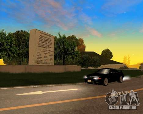 Nissan Skyline GT-R BNR32 Initial D Legend 2 N.K para GTA San Andreas vista traseira
