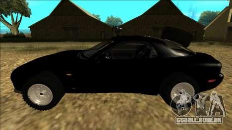 Mazda RX-7 Rusty Rebel para GTA San Andreas esquerda vista