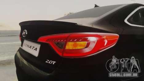 Hyundai Sonata Turbo 2.0 2015 V1.0 Final para GTA San Andreas vista superior