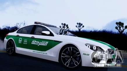 BMW M6 F13 Gran Coupe 2014 Dubai Police para GTA San Andreas