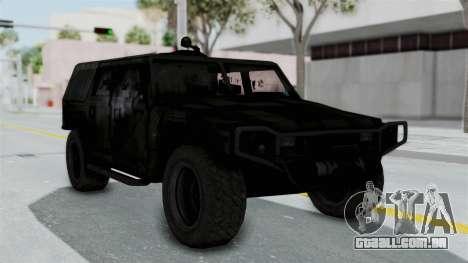 HMLTV-998 BULDOG from Crysis 2 para GTA San Andreas traseira esquerda vista