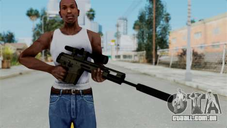 SCAR-20 v2 Folded para GTA San Andreas terceira tela
