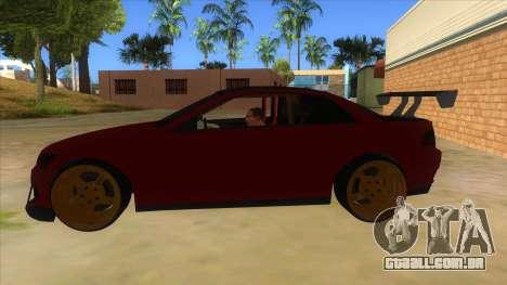 GTA V Sentinel RS MKII para GTA San Andreas esquerda vista