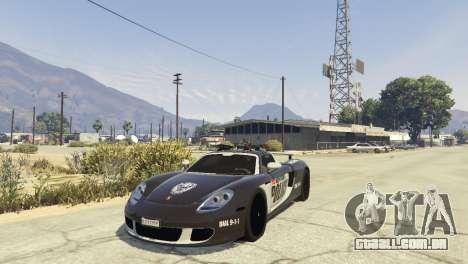 Porsche Carrera GT Cop para GTA 5