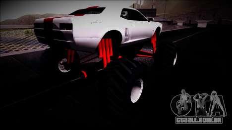 GTA 5 Bravado Gauntlet Monster Truck para GTA San Andreas traseira esquerda vista