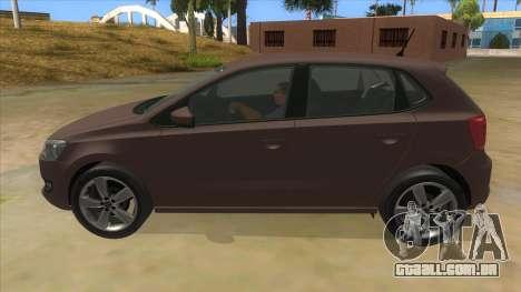 Volkswagen Polo 6R 1.4 para GTA San Andreas esquerda vista