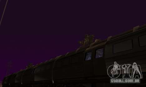 Batman Begins Monorail Train v1 para vista lateral GTA San Andreas