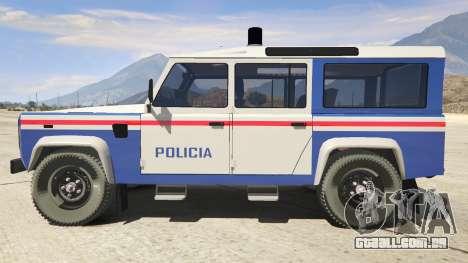 GTA 5 Land Rover Defender vista lateral esquerda