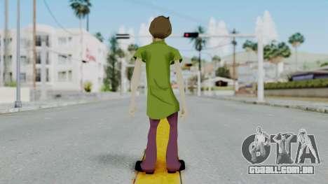 Scooby Doo Salcisha-Shaggy para GTA San Andreas terceira tela