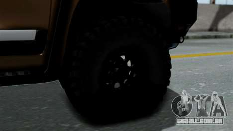 Toyota Land Cruiser 2013 Off-Road para GTA San Andreas traseira esquerda vista