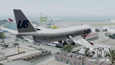 GTA 5 Jumbo Jet v1.0 FlyUS para GTA San Andreas esquerda vista