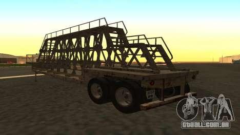 O trailer painéis para GTA San Andreas esquerda vista