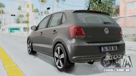 Volkswagen Polo 6R 1.4 HQLM para GTA San Andreas esquerda vista