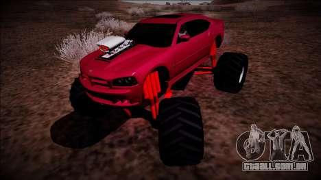 2006 Dodge Charger SRT8 Monster Truck para GTA San Andreas traseira esquerda vista
