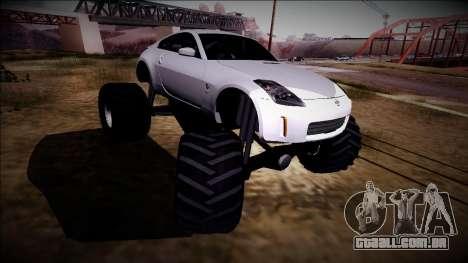 Nissan 350Z Monster Truck para GTA San Andreas vista interior