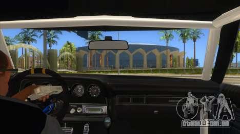 Ford Gran Torino Drag para GTA San Andreas vista interior
